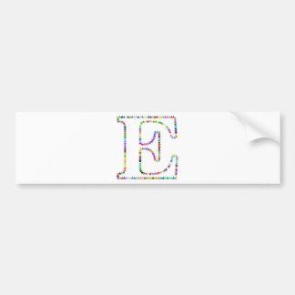 Letra E da estrela do arco-íris Adesivo De Para-choque