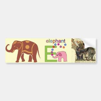Letra E do elefante Adesivos