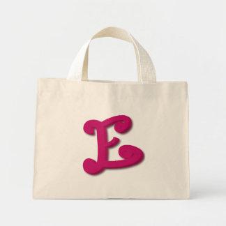 Letra E em 3D Sacola Tote Mini