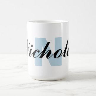 Letra e nome do monograma caneca de café