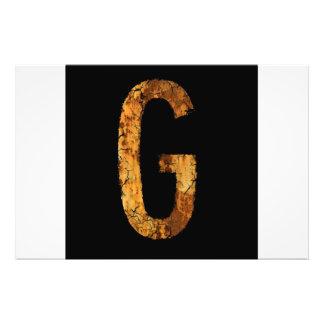 Letra G Foto Arte