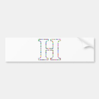 Letra H da estrela do arco-íris Adesivo De Para-choque