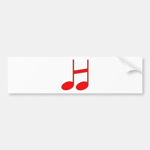 """Letra inglesa """"H"""" criada das notas musicais Adesivos"""