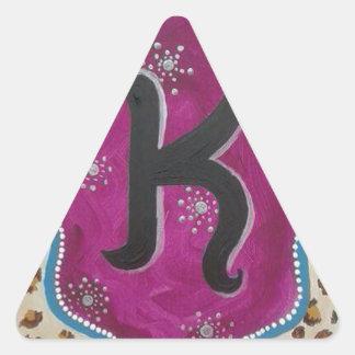 Letra K do monograma Adesivo Triangular