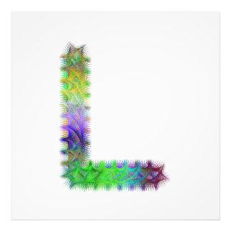 Letra L monograma do Fractal Impressão De Foto