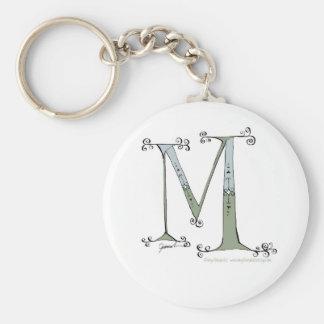 Letra mágica M do design tony dos fernandes Chaveiro