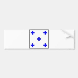 letra marítima 0 do número zero da bandeira de adesivo para carro