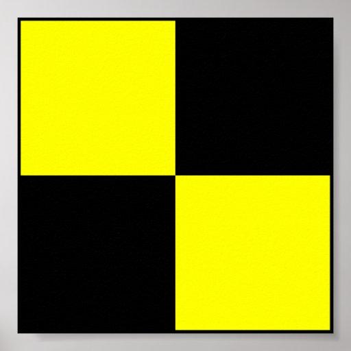 Letra marítima internacional da bandeira de sinal impressão