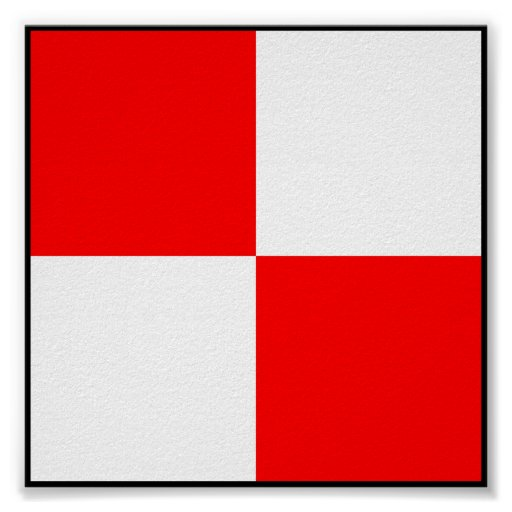 Letra marítima internacional da bandeira de sinal posters