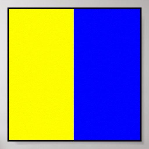 Letra marítima internacional da bandeira de sinal