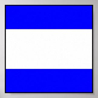 Letra marítima internacional da bandeira de sinal poster