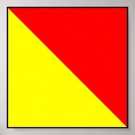 Letra marítima internacional da bandeira de sinal posteres