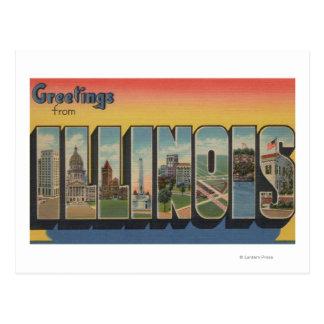 Letra ScenesIllinois 2 de IllinoisLarge Cartão Postal
