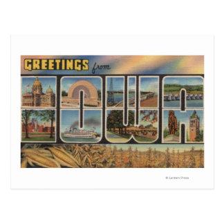 Letra ScenesIowa de IowaLarge Cartão Postal