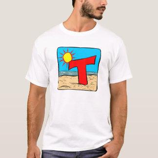 Letra T das ideias do casamento de praia Camiseta