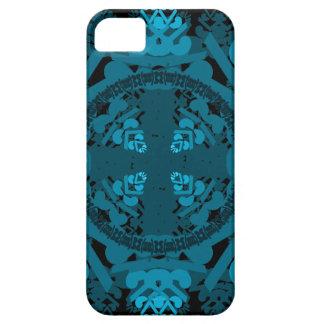 letra um-d-espelho-folha-azul capa barely there para iPhone 5