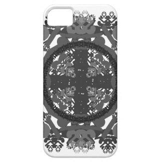 letra um-d-espelho-folha-preto-branca capa para iPhone 5