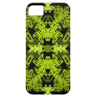 letra um-e-espelho-folha-verde capa para iPhone 5