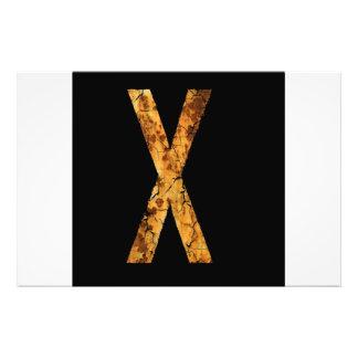 Letra X Impressão Fotográfica