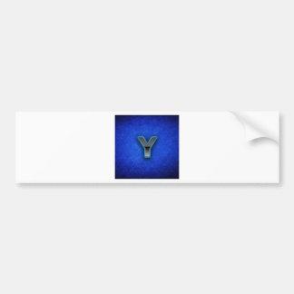 Letra Y - edição azul de néon Adesivo Para Carro