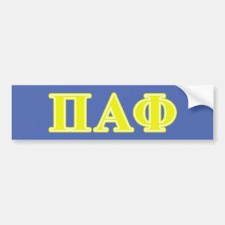Letras alfa do amarelo da phi do Pi Adesivo Para Carro