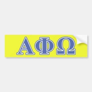 Letras alfa do azul de Omega da phi Adesivo Para Carro