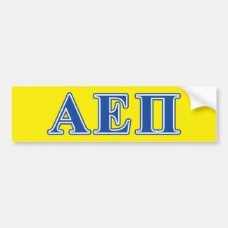 Letras alfa do azul do Pi do épsilon Adesivo Para Carro