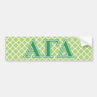 Letras alfa do verde do delta da gama adesivo para carro