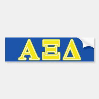 Letras amarelas do delta do alfa Xi Adesivo Para Carro