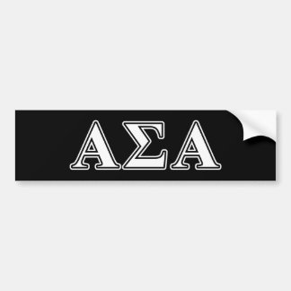 Letras brancas do Sigma alfa e pretas alfa Adesivo Para Carro
