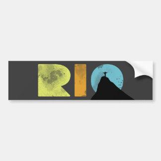 Letras corajosas de RIO com Corcovado Adesivo Para Carro