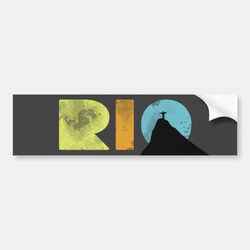 Letras corajosas de RIO com Corcovado Adesivos