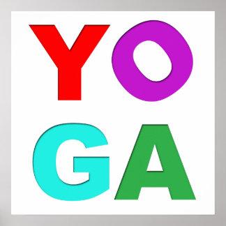 Letras da ioga pôster