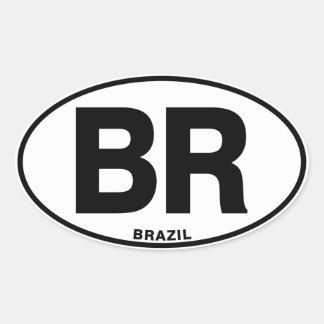 Letras de código internacionais ovais da adesivo oval