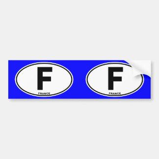 Letras de código internacionais ovais da adesivo para carro
