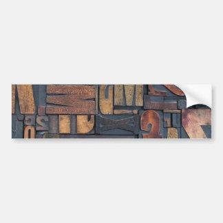 Letras de madeira adesivos
