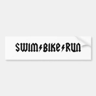 letras do acdc do swimbikerun adesivo