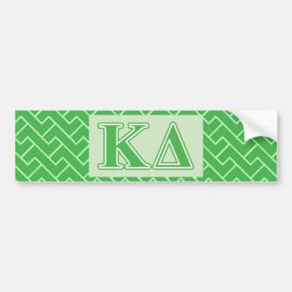 Letras do verde do delta do Kappa Adesivo Para Carro