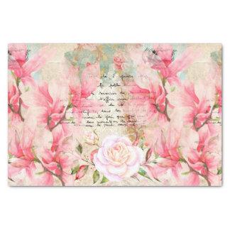 Letras escritas à mão do papel de parede floral do