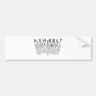 Letras jorrando adesivo de para-choque