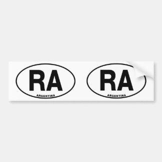 Letras ovais da identidade do estilo do RA de Adesivo Para Carro