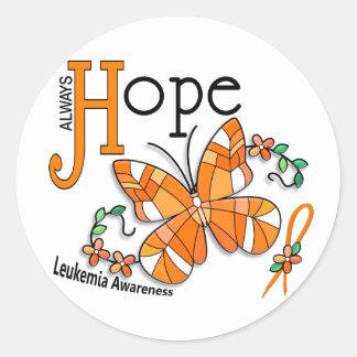 Leucemia da borboleta do vitral adesivos