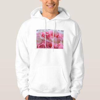 leus brancos cor-de-rosa moleton com capuz