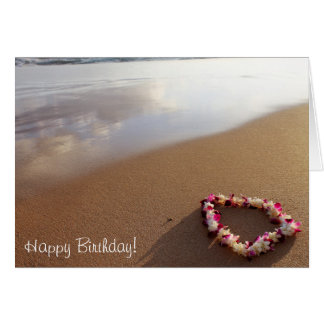 Leus & cartão de aniversário havaianos da praia