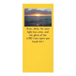 Levanta-se o brilho - 60:1 de Isaiah 10.16 X 22.86cm Panfleto