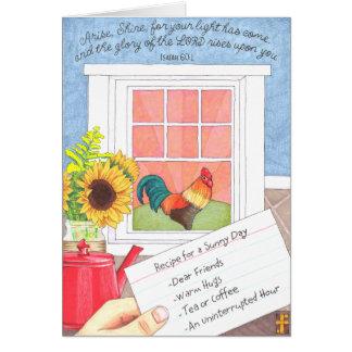 Levanta-se o cartão da amizade do brilho