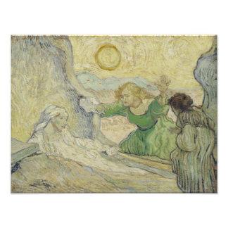 Levantamento de Lazarus após Rembrandt por Van Gog Fotografias