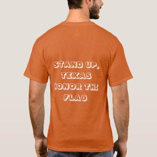 Levante-se, camisa de Texas T com Texas & bandeira