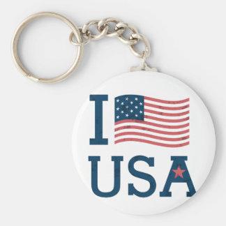 Leve Chave Básica os EUA Chaveiro