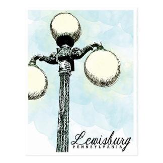 Lewisburg, cartão histórico do cargo da lâmpada do
